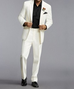 New Arrival Groomsmen Ivory Groom Tuxedos Notch Lapel Men Suits Wedding/Prom Best Man Blazer ( Jacket+Pants+Tie ) C361
