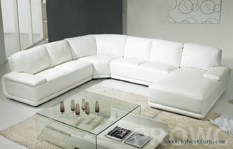 Simplicity White Sofa Settee Modern Furniture U Shaped Hot Sale