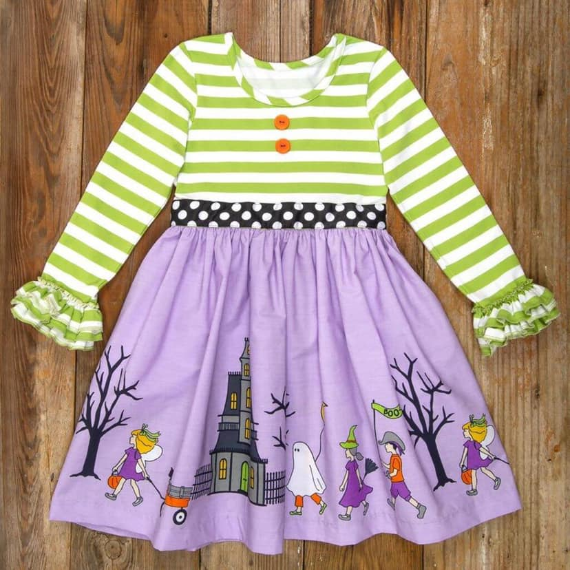 Winter Halloween Kids Dresses For Girls Baby Clothes Cotton Toddler Vestido Nina Clothing for 0 8 Years in Dresses from Mother Kids