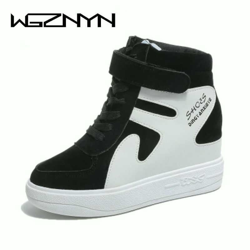 WGZNYN NEW Fashion High Top Women casual shoes Platform Outdoor Sneakers Hidden Increasing Shoes Breathable Shoes Woman W408WGZNYN NEW Fashion High Top Women casual shoes Platform Outdoor Sneakers Hidden Increasing Shoes Breathable Shoes Woman W408