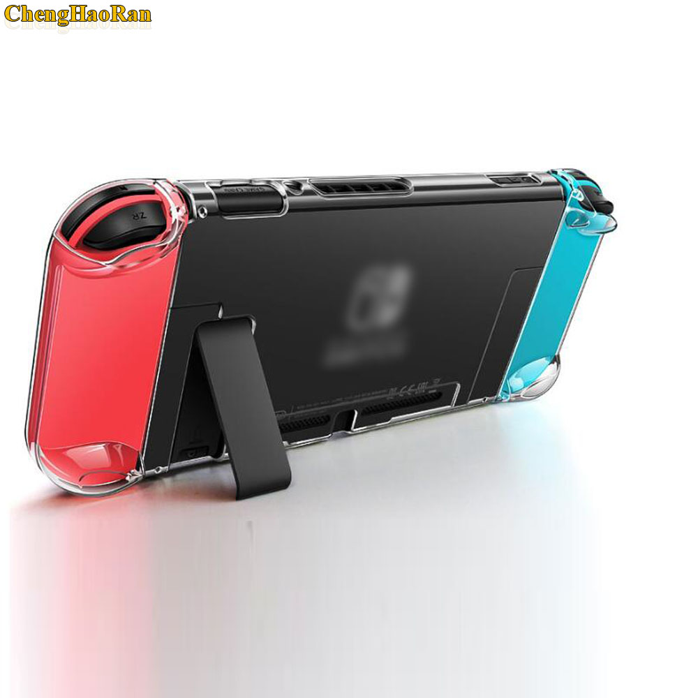 Image 4 - Hard PC Protection Cover For Nintend Switch NS NX Case Transparent Crystal Shell Console Controller Accessories With Stand Cases-in Replacement Parts & Accessories from Consumer Electronics