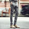 2016 Otoño Delgado de La Manera de Marca Para Hombre Pantalones Lápiz Algodón Hombres de Color Sólido Ocasional Pantalones Largos pantalones de Chándal Homme Ropa LW184