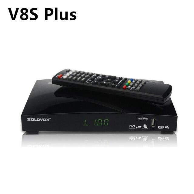 V8s plus receptor de satélite + 1 ano europa cccam clines DVB S2 MPEG 4 1080p hd completo sintonizador tv digital receptor vs v8 super v7