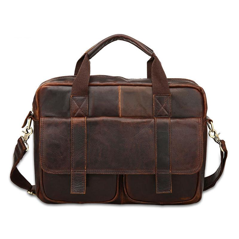 European Style Document File Genuine Leather Men Briefcase Bag Tote Elegant Mens Briefcases Office Mens business Bags