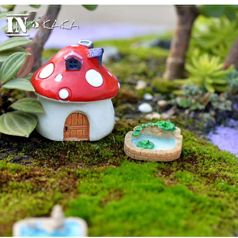 Charmant Aliexpress.com : Buy Resin Mini Lotus Pond With Hill Micro Fairy Garden  Figurines Miniatures/Terrarium Dollhouse Decor Ornaments DIY Accessories  From ...