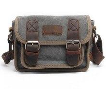 High Quality Men Women Messenger Bags Vintage Canvas Cowhide Leather Briefcase Travel Crossbody Shoulder Bag Portfolio Handbag