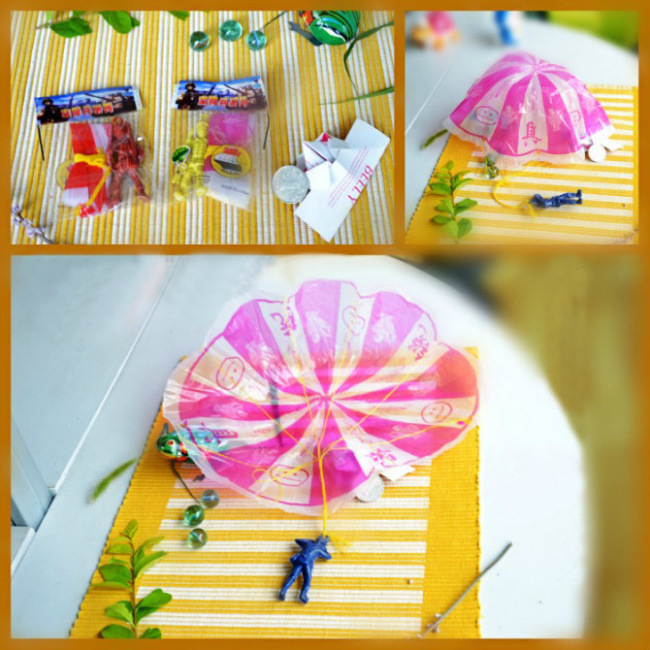 1pc Hand Throwing kids mini play parachute soldier Outdoor sports Children's Toys Anyoutdoor