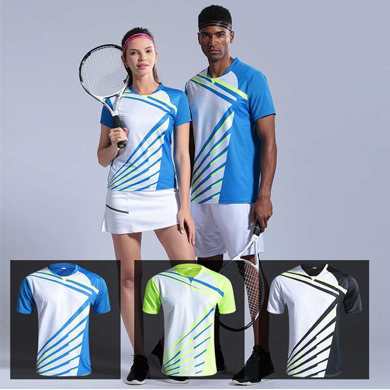 ランニングスポーツウェア速乾性バドミントンテニスシャツユニフォーム女性男性フィットネスバレーボールゴルフ卓球ショーツスカート