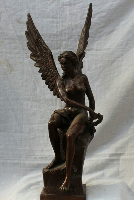 Real Bronze Marble Sculpture Louvre Art Winged Victory