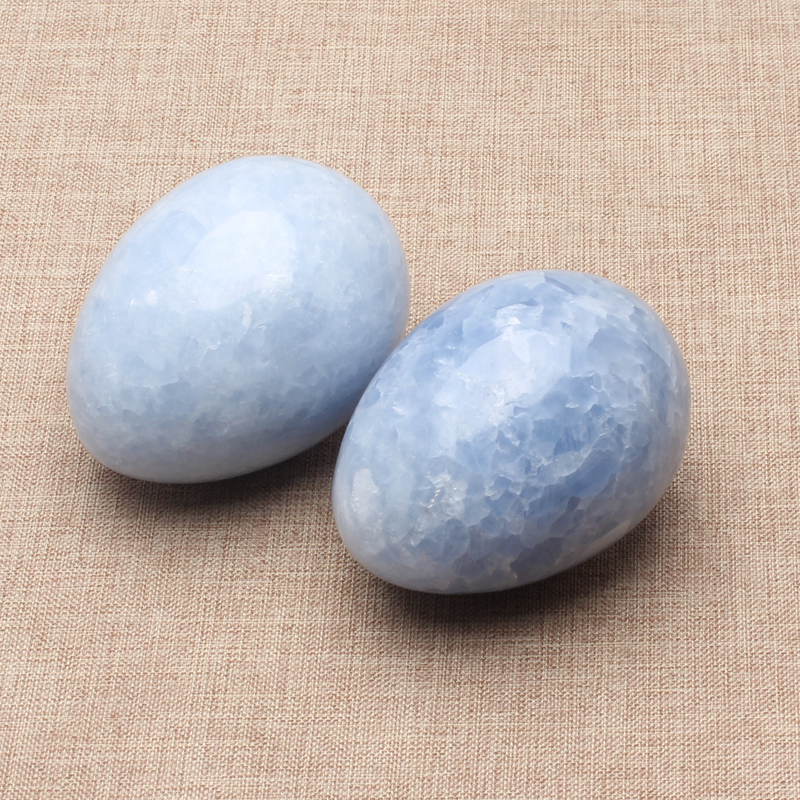 Natural Sky Blue Chalcedony Calcite Quartz Crystal Egg Sphere Ball With Stand Healing Natural Quartz Crystals Healing Stones