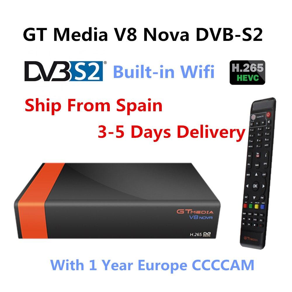 GOTiT GTMedia V8 Nova DVB-S2 Freesat Satellite receiver digital +1 year Europe Spain Germany Polish CCcam 4 clines Full HD 1080P