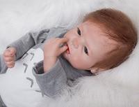 55 см ручной винил для новорожденных жив Кукла реборн для маленьких девочек реалистичные силиконовые детские игрушки подарок для детей