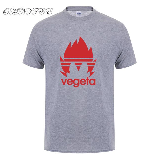 Dragon Ball Z Vegeta Cotton Short Sleeve O-neck Men's T-shirt