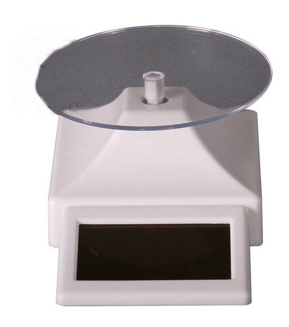 Ambiental Energia Solar Display Stand Base Giratória Com Célula Solar Automático Rotativo Para Jóias Display Telefone 3C