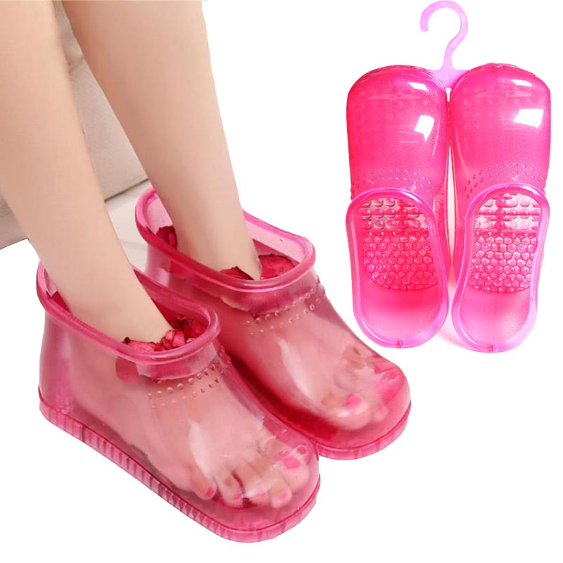 Foot Massage care Bath Boots Household Relaxation Slipper Shoes Feet Care Hot Compress Foot Soak Theorapy Massage Acupoint Sole electric antistress therapy rollers shiatsu kneading foot legs arms massager vibrator foot massage machine foot care device hot