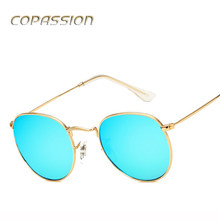 Polarized sunglasses women brand designer Classic Retro Vintage Round Sunglass Metal Frame Circle Hot Rays Sun Glasses Eyewear(China)