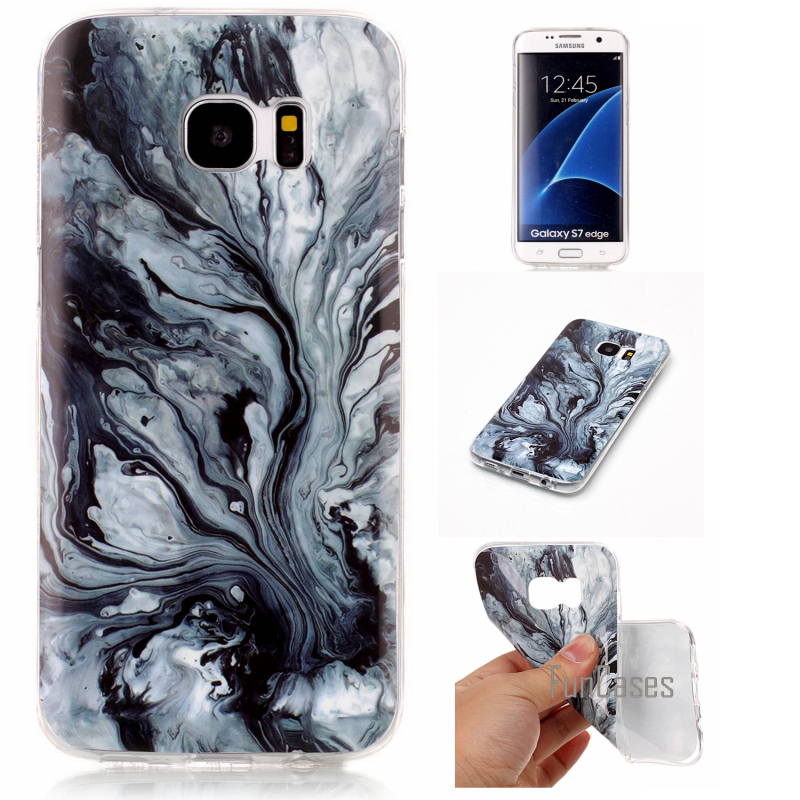 For Samsung Galaxy S7 Case Marble Stone image Painted Silicon Soft Cover For samsung galaxy s7 edge Mobile Phone Bags Funda
