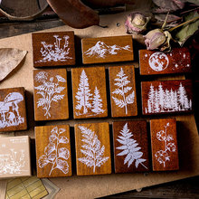 Vintage Jungle series wood rubber stamps for scrapbooking stationery DIY standard wooden stamp