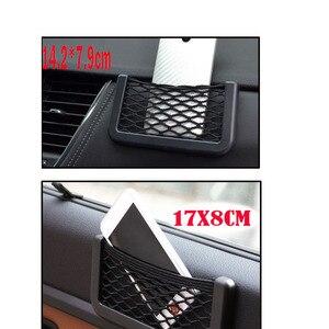 Image 3 - 3 Sizes Car Net Organizer Pockets Car Storage 20*9CM/17*8 CM/14*8CM For Tools Mobile Phone Seat Side Net Automotive Bag Black