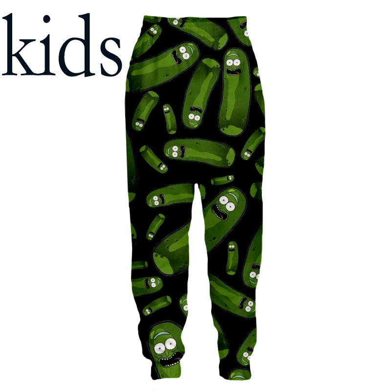 3d Print Men Women Full Length Jogger Superhero Kids Sweatpant Winter Pickle Pants Anime Children Rick Morty Sports Trousers 973