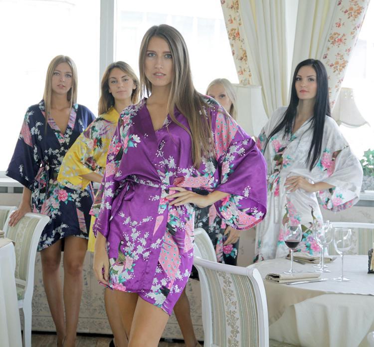 DIY palabra Pavo Real Albornoces novia sexy vestido de novia dama de ...