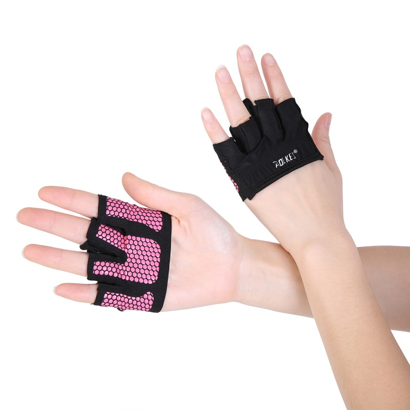 AOLIKES 1 Pair Anti-skid Men & Women Gym Gloves Breathable Body Building Exercise Training Sports Fitness Gloves Crossfit New