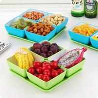 Fashion Multicellular Classification Snack Tray Plastic Candy Box Dried Fruit Plate