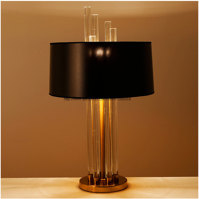 hotel table lamps for living room art deco clear glass rod bedside rh aliexpress com