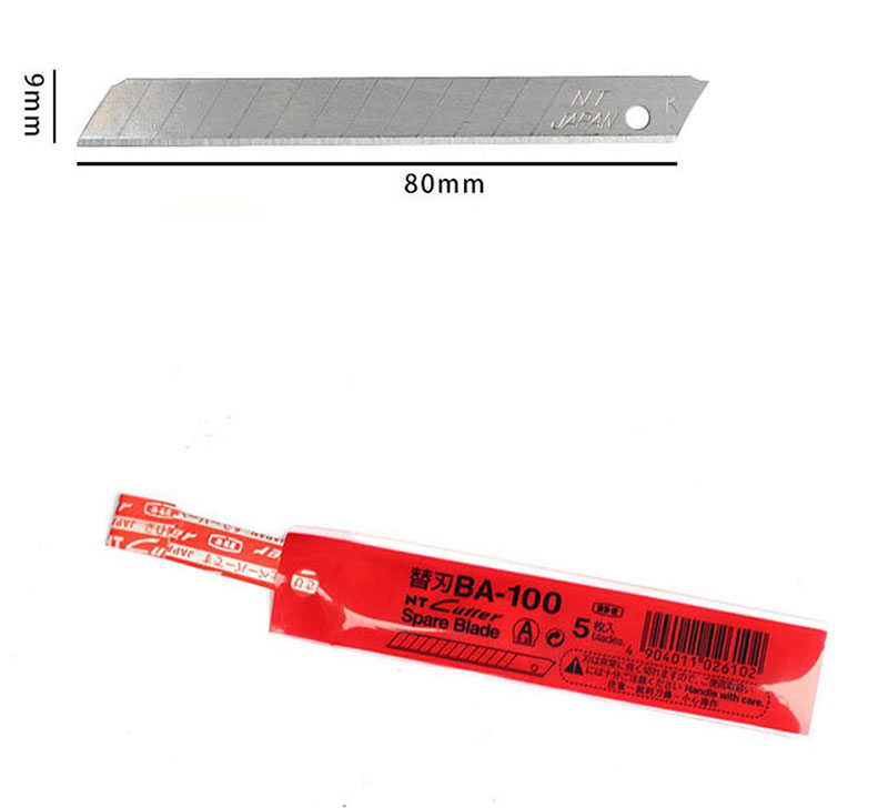 Japan NT Cutter Spare Replacement Blade BA-100 small art blade 9mm 58 degrees 50blade/Pack for D-400 D-1000 C-400 C-1500