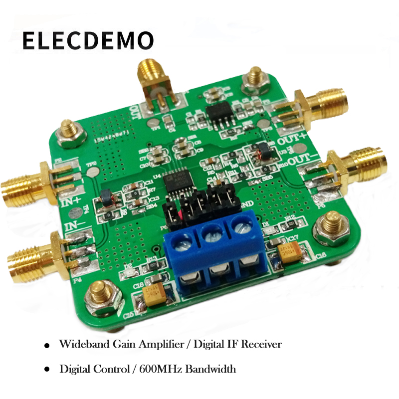 AD8369 Wideband Gain Amplifier 600M 45dB VGA Differential Amplifier Authentic Guarantee function demo board-in Demo Board Accessories from Computer & Office