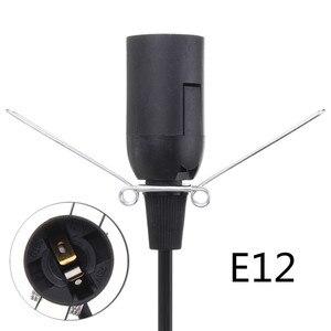 1 м Электрический силовой кабель светорегулятора шнур E12 лампа база Гималайская солевая лампа держатель ПВХ Переключатель вилка США белый/черный