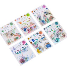 20packs/lot kawaii cartoon scrapbook sticker children decorative adhesive sticker label for notebook and album stationery