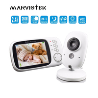 VB603 Wireless Baby Monitor Video Color High Resolution Baby Nanny Security Camera Night Vision Temperature Monitoring 3.2 inch