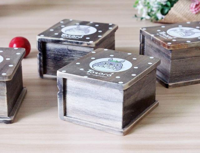 Vintage Wooden Totoro Music Box
