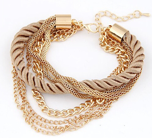 Minhin Fashionable Rope Chain Decoration Bracelet For Six Color Hot Ing Summer Party