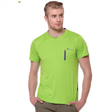 2016 free shipping Men's summer outdoor quick dry ultra light sweat breathable antibacterial short sleeve T-shirt B-Tm5-0099