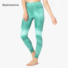 Fashion Color Graffiti Printing Female Yoga Leggings Gradient Fitness For Women Gym Workout Mujer Pants