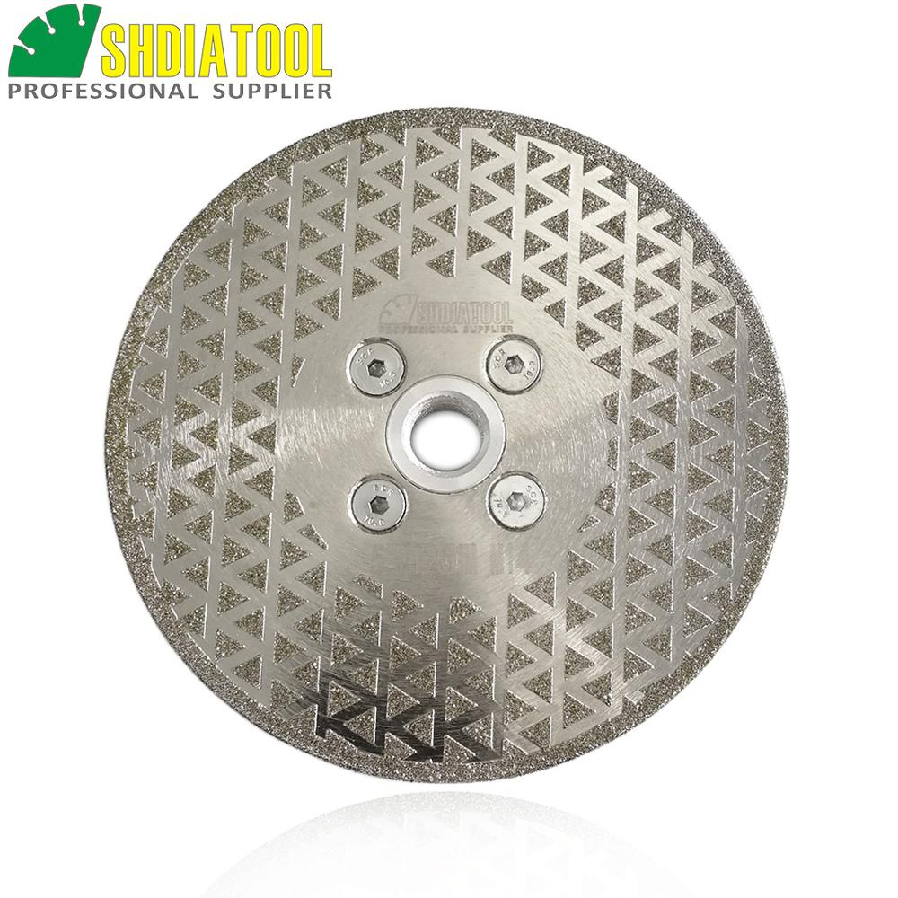SHDIATOOL 1pc Dia 125mm M14 Electroplated Diamond Cutting And Grinding Disc With Single Grinding Side Granite & Marble Sawblade