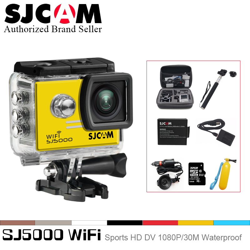 sjcam sj5000 plus ambarella a7ls75 sport camera SJCAM SJ5000 Series SJ5000 WiFi Action Camera Notavek 96655 Sport DV 2.0 LCD Waterproof Camcoder Optional Package