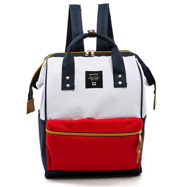 FANSON 女性バックパックカジュアル最高の旅行バッグ日本リングスクールバッグファッションショルダーバッグ十代の少女リュックサック Mochila Bagpack