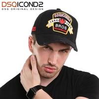 DSQICOND2 algodón marca Snapback Gorras de béisbol para los hombres y las  mujeres negro sólido Gorras 0e983d6bafa