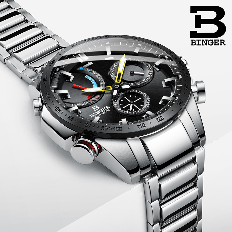Watch Men Switzerland BINGER Luxury Brand Men Watches Automatic Mechanical Men Watch Sapphire Waterproof Energy display S10003-3Watch Men Switzerland BINGER Luxury Brand Men Watches Automatic Mechanical Men Watch Sapphire Waterproof Energy display S10003-3