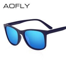 b349a49ca AOFLY Quadrado Do Vintage Polarizada Óculos De Sol Dos Homens Famosa Marca  de Luxo Designer de óculos de Sol Masculino HD Lens G..