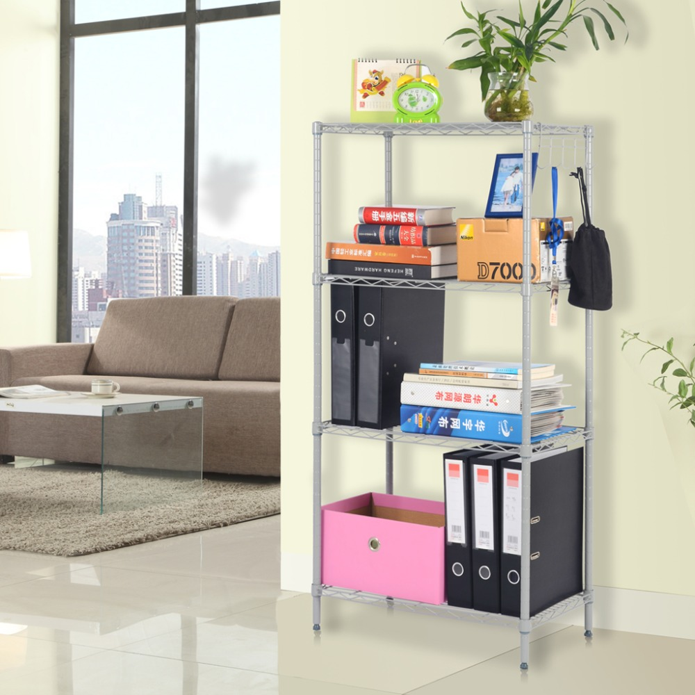 Langria 4 Tier Classic Metal Wire Storage Rack Shelving Rack Shelving Unit  275 Lbs Capacity For Kitchen Toy Bedroom Bathroom In Storage Holders U0026  Racks From ...