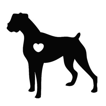 12x12cm I Love My Boxer Dog Animal Black/white dog Car Sticker waterproof decals Car Styling Accessories Window Decor CL013 image