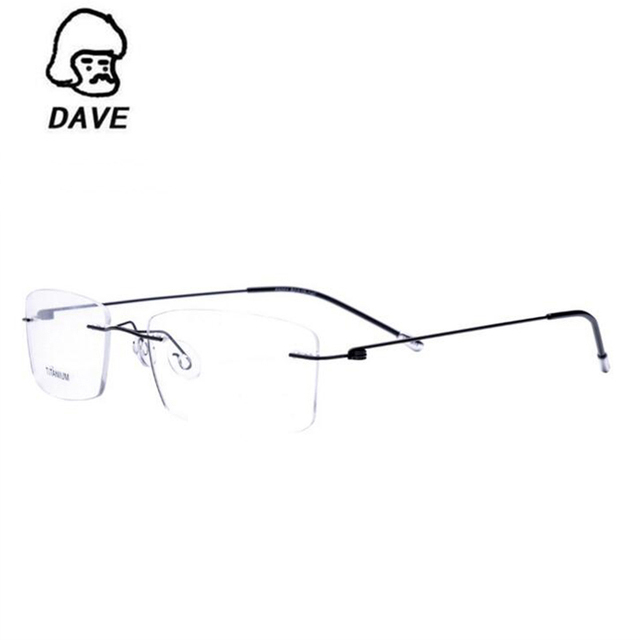 DAVE 2017 Titane Myopie Lunettes Sans Monture Mémoire Carré Lunettes  Optique Monture de lunettes Lunettes Hommes 6e5119b923c0
