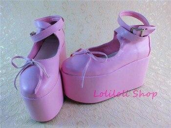 Princess sweet lolita shoes Lolilloliyoyo antaina Japanese design cos shoes custom thick bottom pink flat buckle shoes 9249sa