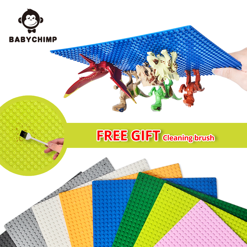 25.5CM 32*32 Dots Building Blocks Parts Plastic Base Plates Toy Baseplates Board Small Bricks Fit Legoed Duplos Figures For Kids