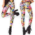 X-013 spring summer ADVENTURE TIME BRO BALL LEGGINGS cartoon pattern pants punk