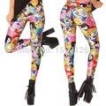 X-013 spring summer ADVENTURE TIME BRO BALL LEGGINGS cartoon pattern pants punk